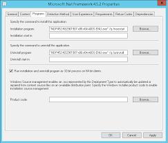 deploying net framework 4 5 2 as a