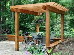 How Much To Build A Pergola Best Cost Plans Pine Polished Finish Wooden  Posts Crossbeams Rafters Battens Fence Hanging Flower Pots Garden Patio  Decoration