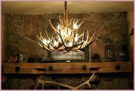 ceiling lights real antler lighting bedside lamp deer chandelier diy kit chain cover whitetail