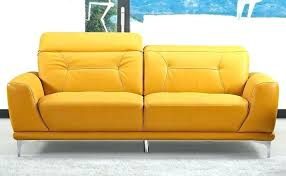 yellow leather sofa and loveseat modern style air