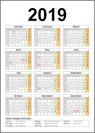 Calendar 2019 Printable With Holidays Printable Calendar 2019 United States Holidays Monthly Calendar