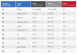 Measurements Mens Suits Chart Suit Size Chart