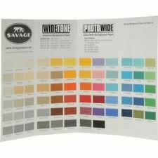 Color Aid Chart Details About Savage Color Chart For Background Paper