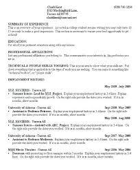 Example Of College Resume Custom Student Resume Examples Objective For Student Resume College Samples
