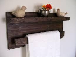 wood towel rack with hooks. Items Similar To Bathroom Shelves Wood Shelf Towel Rack Bar Floating On Etsy With Hooks O