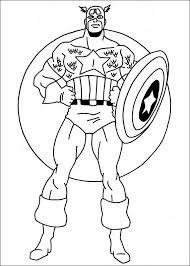 Captain America Kleurplaat Jouwkleurplaten