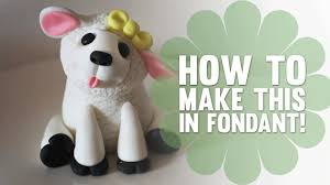 Cake Decorating Animal Figures How To Make A Cute Little Lamb Cake Decorating Tutorial Youtube