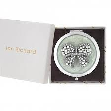 Jon Richard Cream <b>Pearl</b> And <b>Crystal Bow</b> Compact Mirror - Gift ...