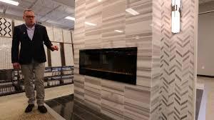 tile fireplace surround modern