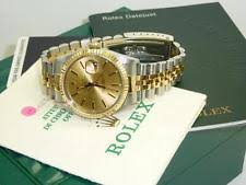 mens rolex watches rolex watches for rolex oyster perpetual datejust 36 bi colour stainless steel 18ct gold 16233