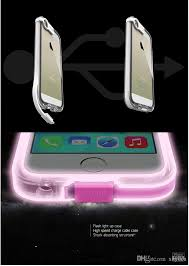 lighting flash led light up cell phone case with usb cable for iphone 4 4s 5