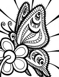 Free Coloring Pages Flowers And Butterflies Free Printable Coloring
