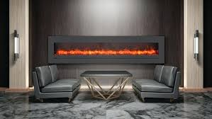 electric fireplace linear with tv above