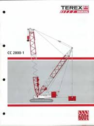 Demag Cc2800 Load Chart Metric Crawler Cranes Terex Demag Specifications Cranemarket