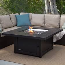 napoleon square propane fire pit table with fire glass hayneedle round coffee table coffee table sets