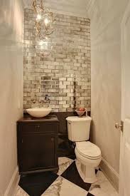 White Vintage Brick Styled Accent Wall Using White Small Bathroom Adorable Small Bathroom Paint Color Ideas Interior
