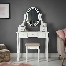 Ein schminktisch ist ein typisch weibliches möbelstück und wird bevorzugt im schlafzimmer oder in einem geräumigen badezimmer aufgestellt. Weisser Schminktisch Beruhrungsspiegel Led Licht 5 Schubladen Hocker Schlafzimmer Eur 269 90 Picclick De