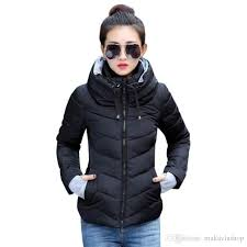 winter jacket women plus size womens parkas thicken outerwear solid hooded coats short female slim cotton padded basic tops jacket coat for coat stands