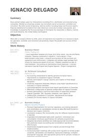 Business Owner Resume New Business Owner Resume Samples VisualCV Resume Samples Database