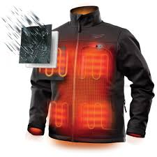 Milwaukee Mens Large M12 12 Volt Lithium Ion Cordless Black Heated Jacket Kit With 1 2 0ah Battery And Charger