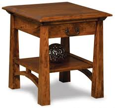 typically no superfluous accents are used and the actual construction of furniture is exposed such as through tenons pictured tahoe end table solid wood end tables u1
