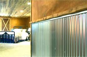 corrugated metal wall covering pole barn interior amazing finishing garage walls design code garage storage a more info wall covering