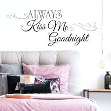 quotes wall stickers always kiss me goodnight quote wall decals wall art stickers quotes australia  on wall art stickers quotes australia with quotes wall stickers wall stickers quotes family quotes wall art