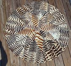 real zebra skin hide rug 48 round from south africa