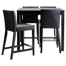 Table Height Stools Kitchen Bjursta Henriksdal Bar Table And 4 Bar Stools Ikea I Want A