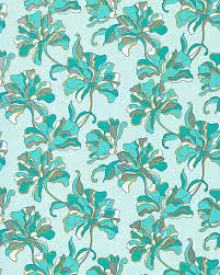 Small Picture EDEM 072 22 wallpaper floral design flowers turquoise blue 533