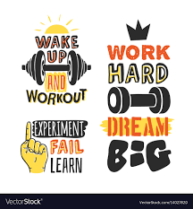 Motivation Templates Set Of Text Templates For Design Sport Motivation Vector Image