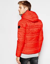 Replay Quilted Jacket Duck Free Hooded in Red for Men | Lyst & Gallery Adamdwight.com