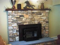Stone Veneer Fireplace Remodel  Remodeling Contractor  Complete Stacked Stone Veneer Fireplace