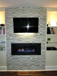 Thin electric fireplace