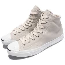 Details About Converse Jack Purcell Jack Mid Beige White Men Leather Shoes Sneakers 155719c