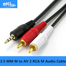 online buy whole av jack from av jack whole rs 3 5 mm male jack to av 2 rca male stereo music audio cable cord aux for