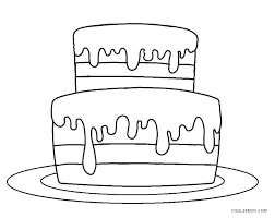 Birthday Cake Coloring Coloring Pages Of Cakes Cake Color Page Cakes
