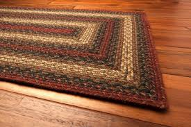 jute primitive braided area rug rectangle rust green