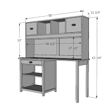 office desk hutch plan. Ana White | Build A Channing Desk Hutch Free And Easy DIY Project Furniture Office Plan F