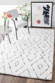 peraza hand tufted white area rug apartment goals moroccan area rugs