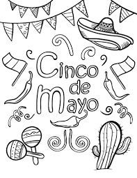 Small Picture Printable Cinco De Mayo Coloring Pages Coloring Me
