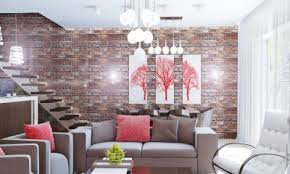 Image Ideas Cozy Home Space With Brick Wall Unique Furniture And Pendant Lighting Richmond American Homes Viral Creek Decor