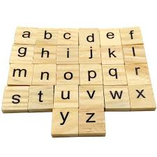 Wooden Letters Design 100pcs Set Wooden Letters English Numbers Alphabet Word Name Design