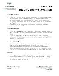 Executive Assistant Career Objective Resume Objective Administrative Assistant Job Sample Resumes