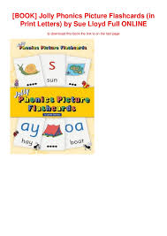 Jolly Phonics Alphabet Chart Free Printable Book Jolly Phonics Picture Flashcards In Print Letters By