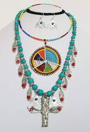 American Indian Necklace Designs Amazon Com Native American Thunderbird Tribal Bead Indian