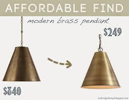 Ballard Designs Morgan Pendant Knock Off Goodman Circa Lighting Brass Lamp Ballard Designs