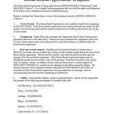 Rental Agreement Fascinating 44 Simple Room Rental Agreement Templates Template Archive