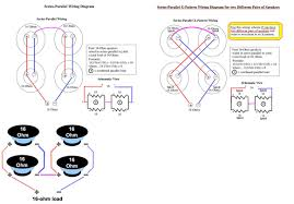 acoustic b wiring problem com used this diagram to wire it series parallel