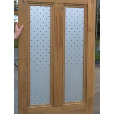 beautiful home interior decoration using etched glass door design modern picture of light oak wood